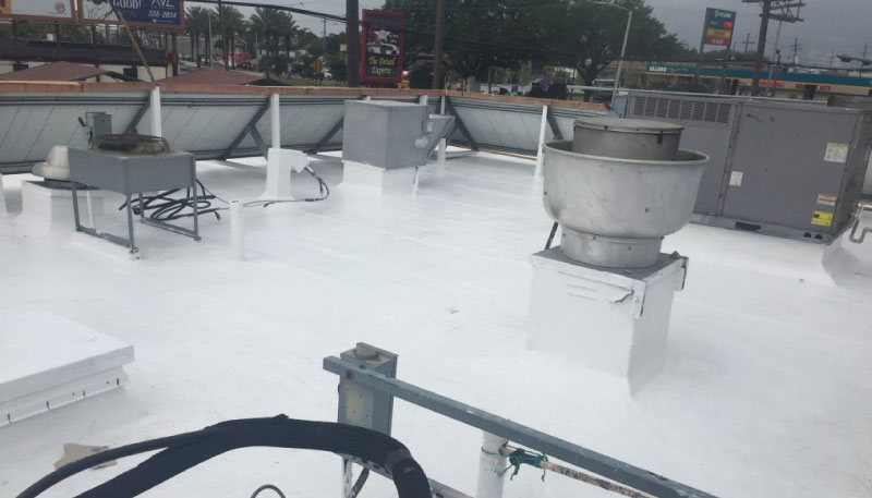 Photo of roofing with cool coating