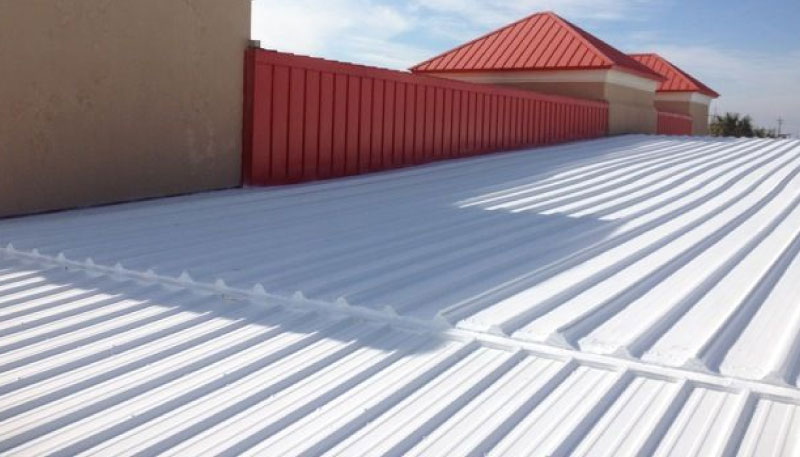 Photo of roof with cool roof system by astec
