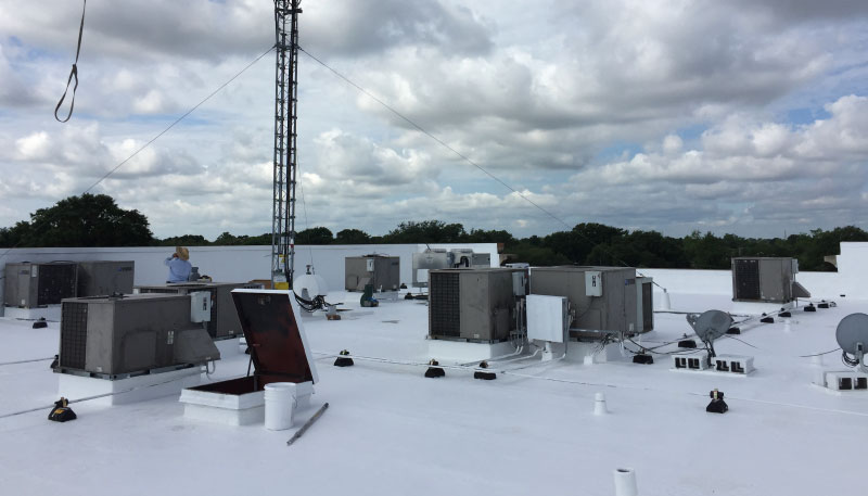 Image of membrane coated rooftop