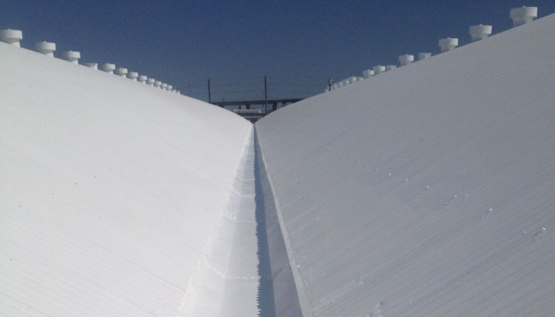 Pic fluid applied coated roof