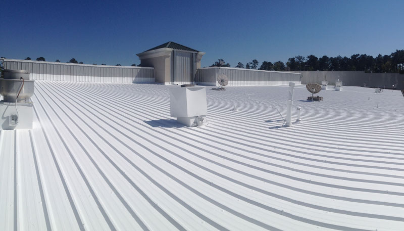 Image of flat coated rooftop