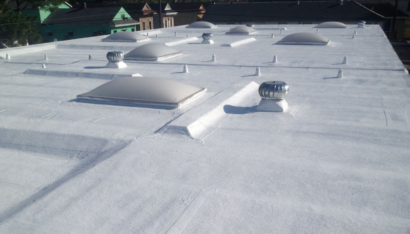 Pic of coated rooftop
