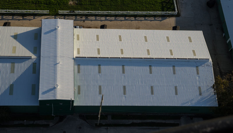 Pic of Cool roofing coating project